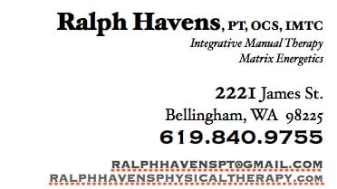 business card for physical therapy
