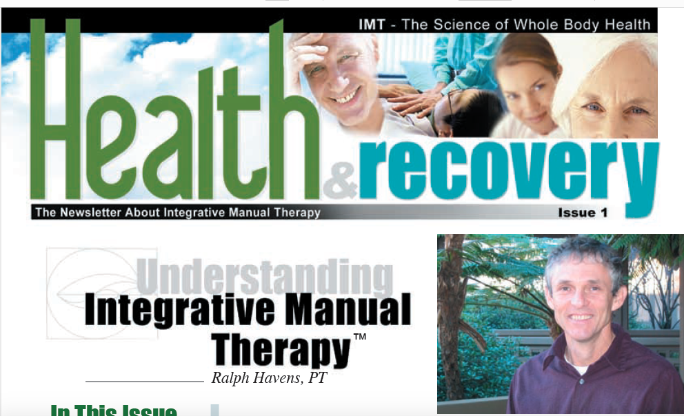 Integrative Manual Therapy Health and Wellness Newsletters